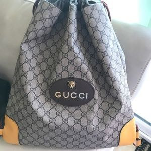 cc07f63de5ca5b Gucci Bags | Gg Supreme Drawstring Backpack | Poshmark